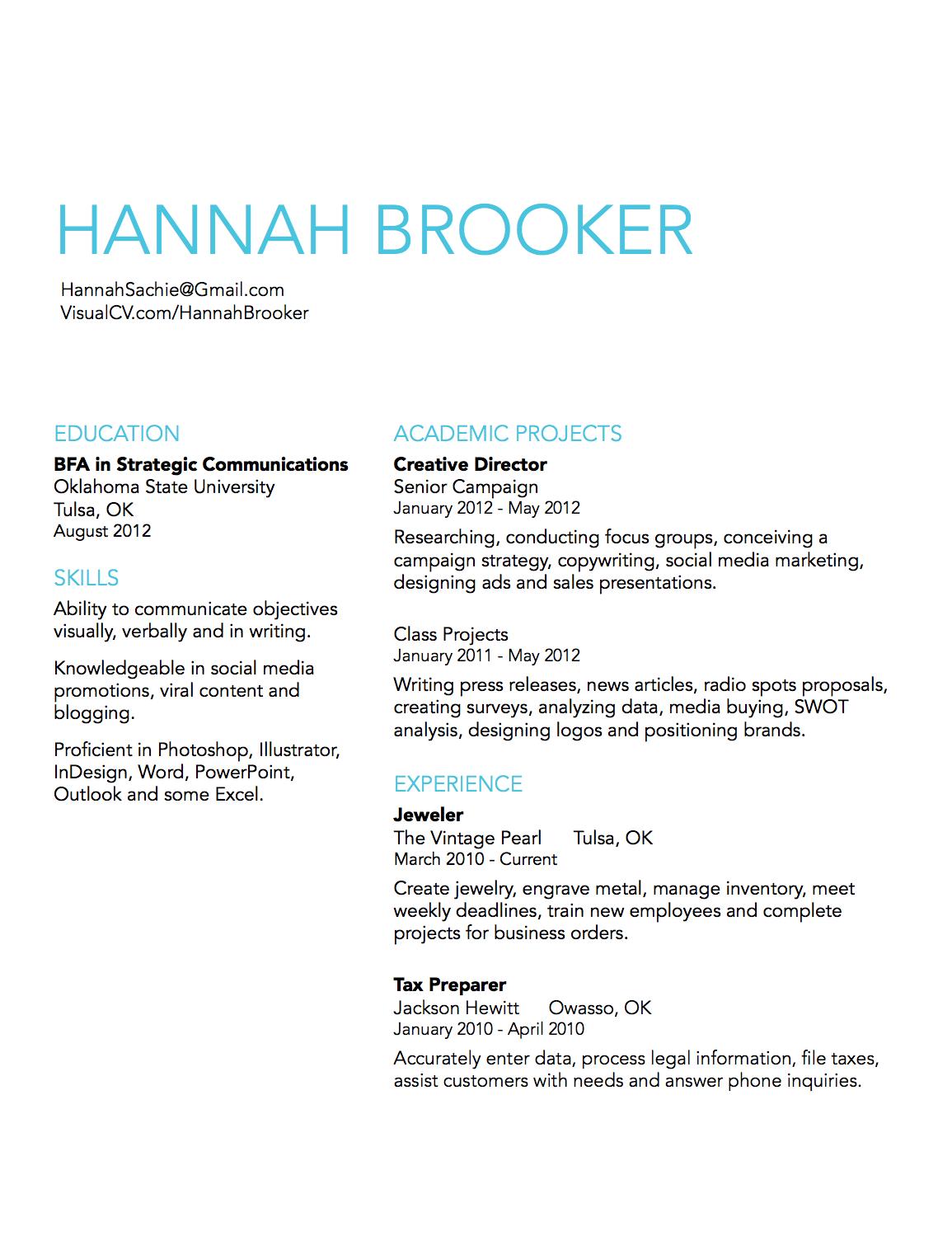 online writing lab resume