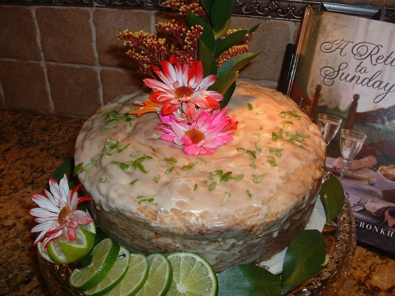 Key Lime Pound Cake w/Key Lime Glaze | Delectable Edibles | Pinterest