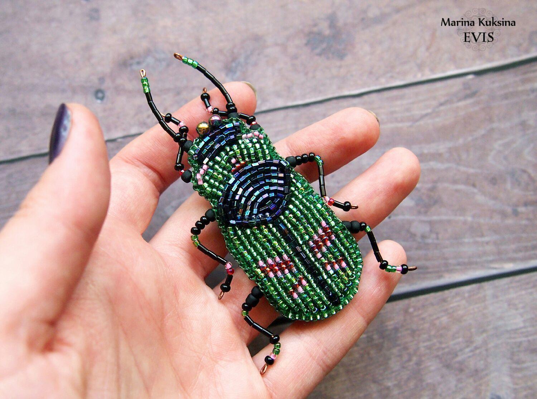 Не фото насекомых из бисера