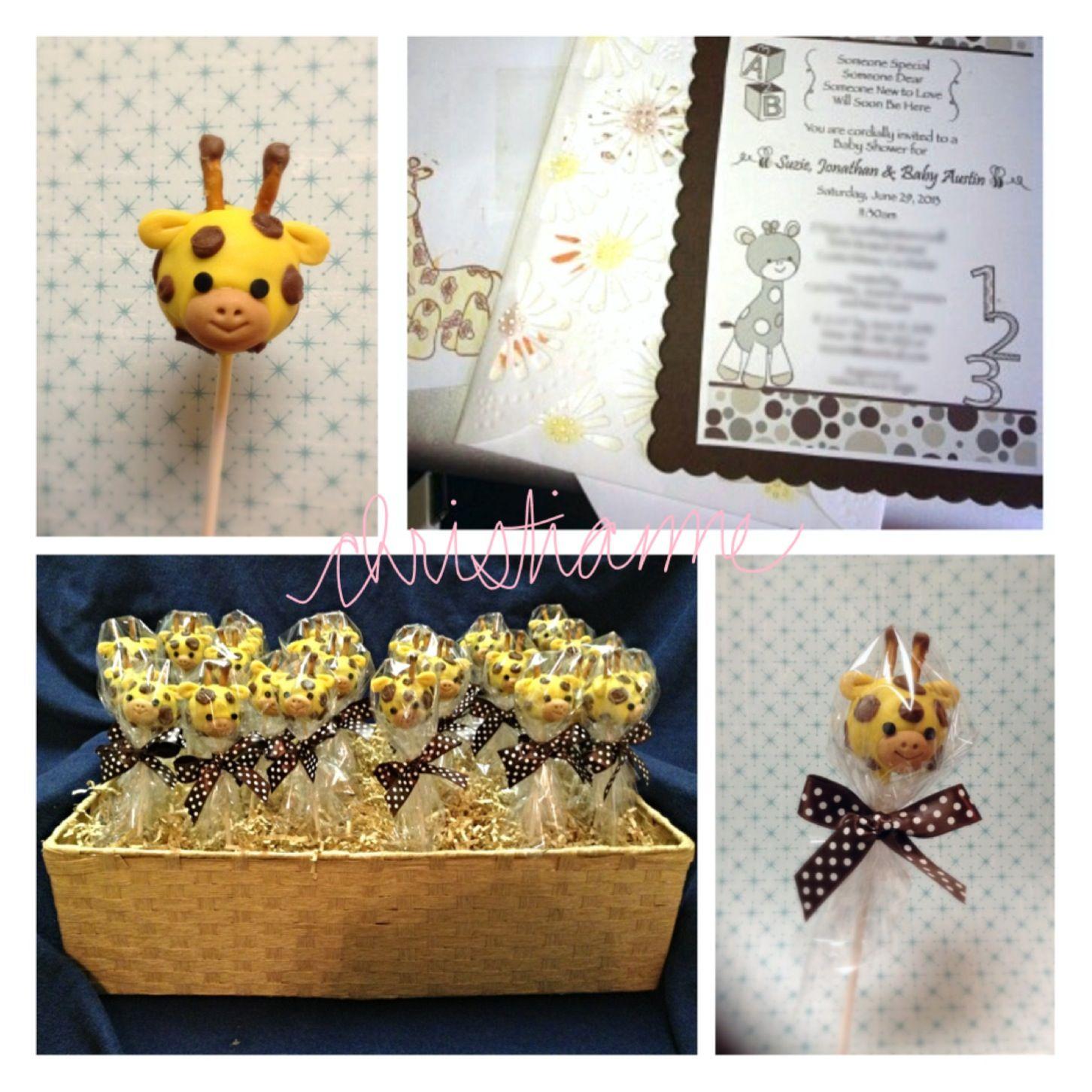 giraffe theme baby shower baby shower pinterest