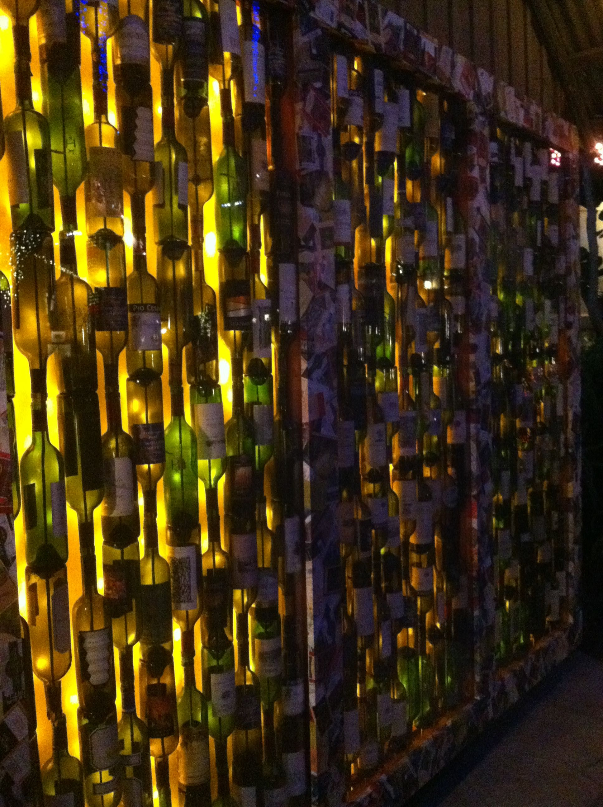 wine bottle wall w back lighting wine bottle ideas