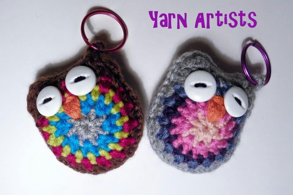 Free Crochet Cat Keychain Pattern : Owl keychain. Free pattern!! Crochet Pinterest