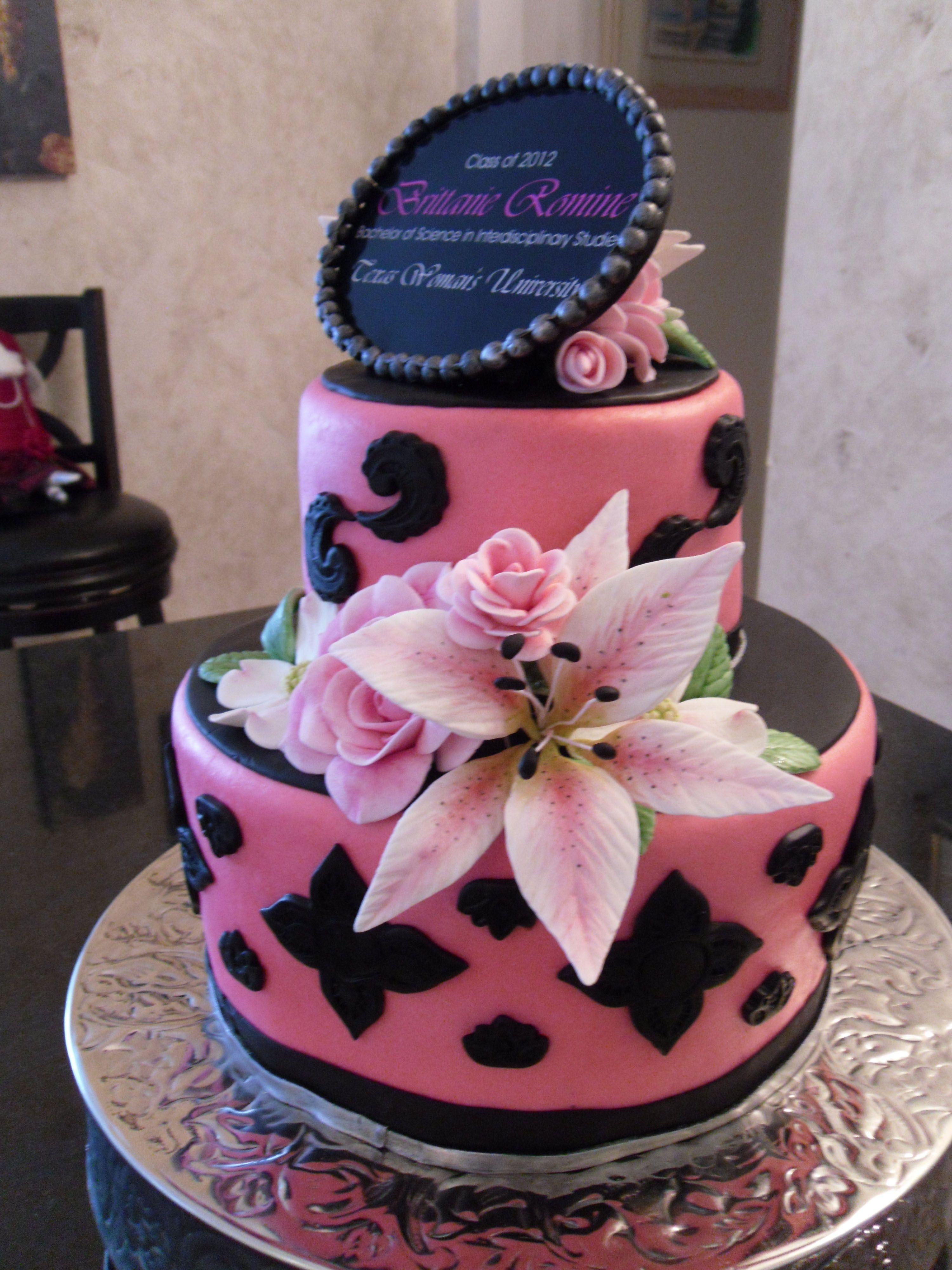 Decorating Ideas > Graduation Cake  My Fondant Cake Designs  Pinterest ~ 002125_Cake Design Ideas For Graduation