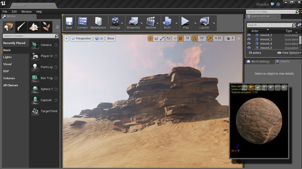 Unreal game engine tutorial games world zbrush tutorials creating rock structures for games in and malvernweather Choice Image