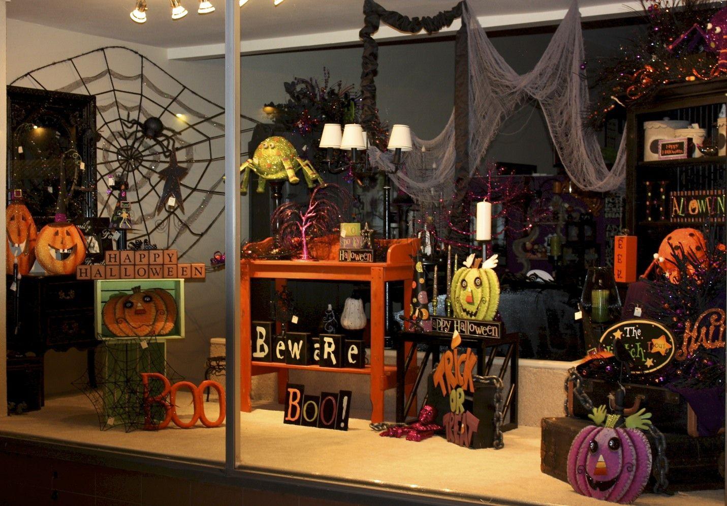 Pin By Jennifer Toni On Halloween Window Display Ideas
