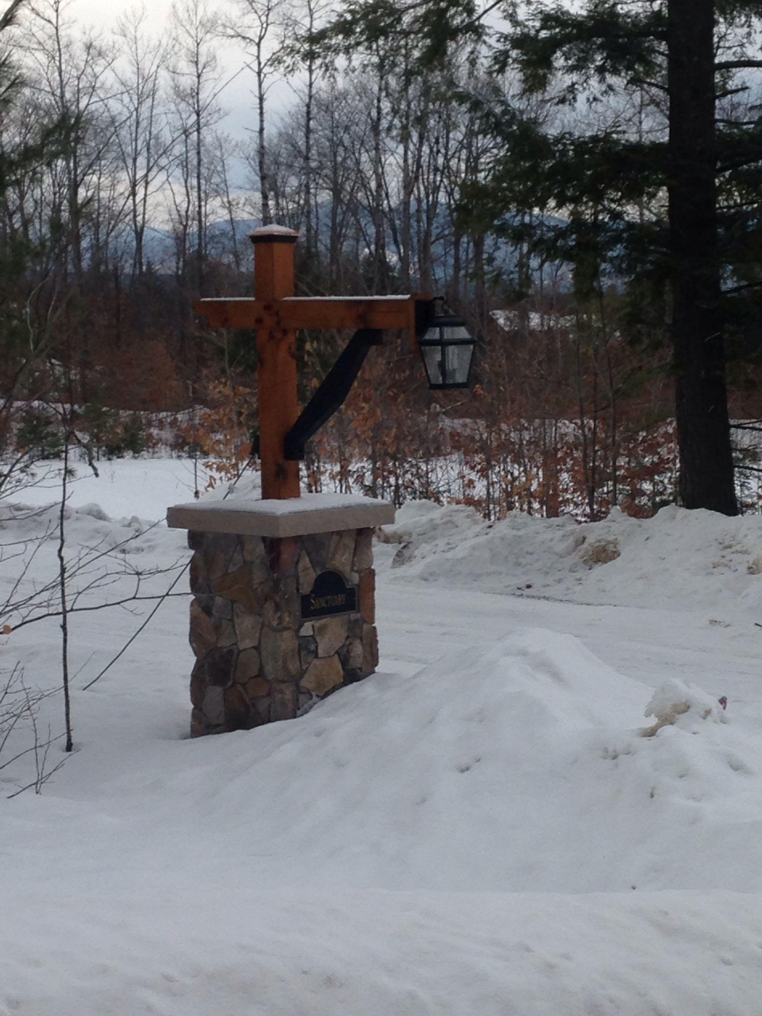 light post pillar for end of driveway plum hill ideas pinterest. Black Bedroom Furniture Sets. Home Design Ideas