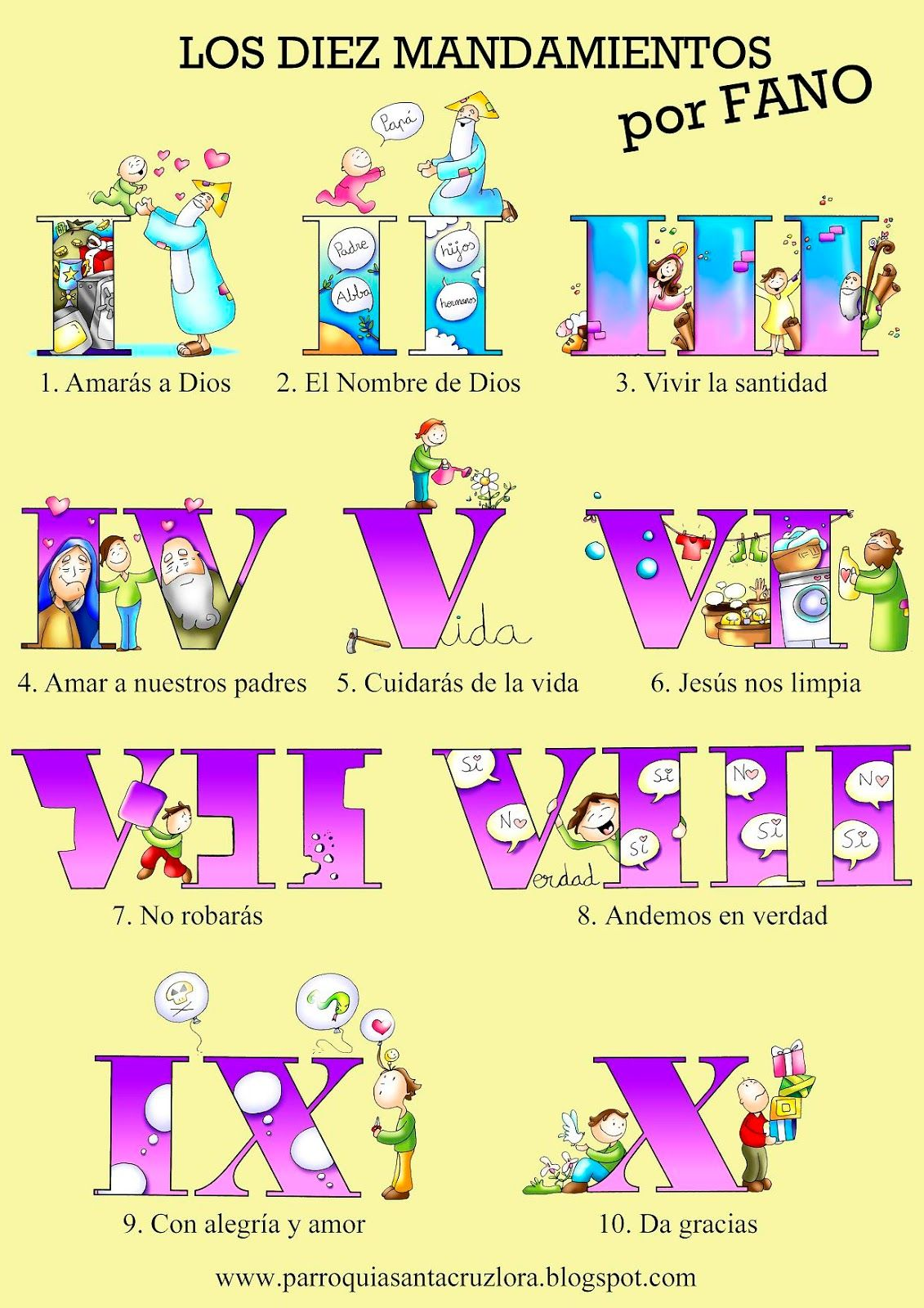 Fotos sobre los diez mandamientos 2
