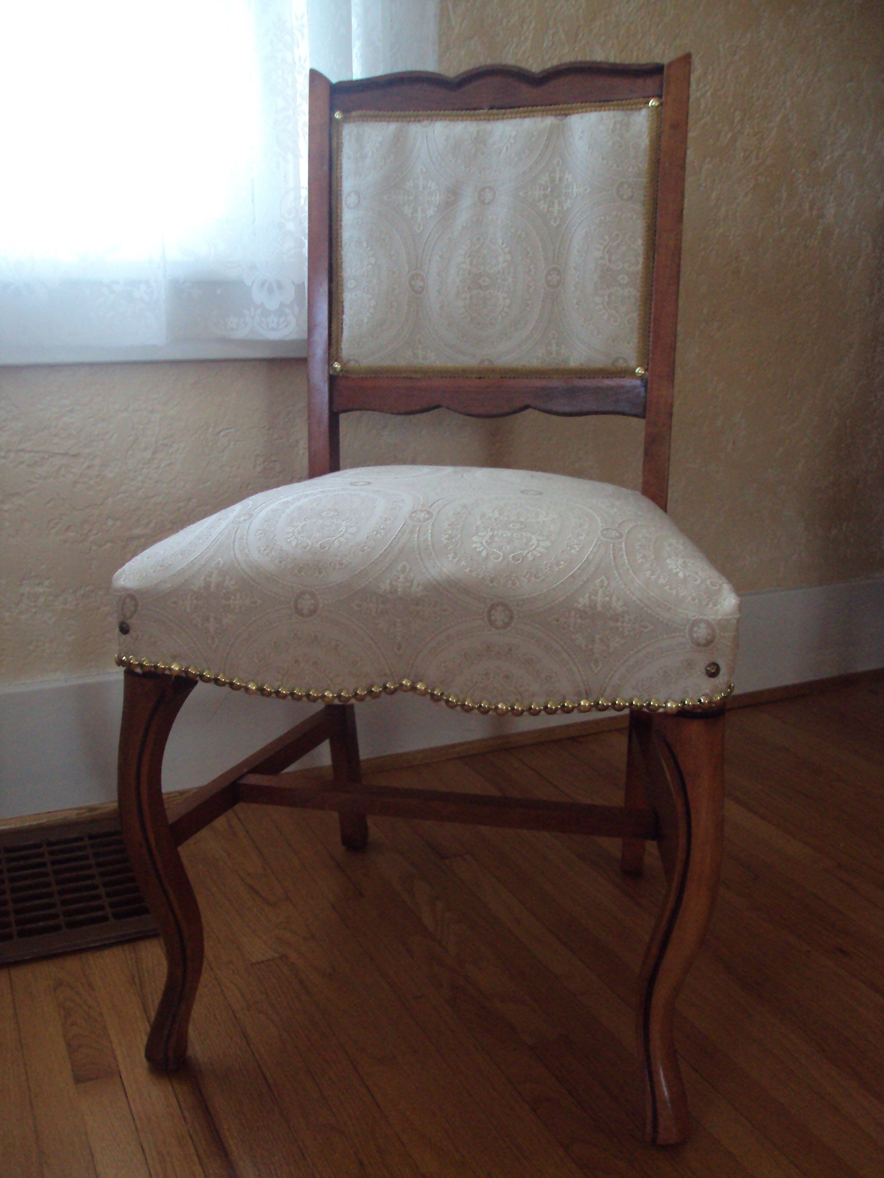 Reupholstered Dining Room Chair Home Pinterest