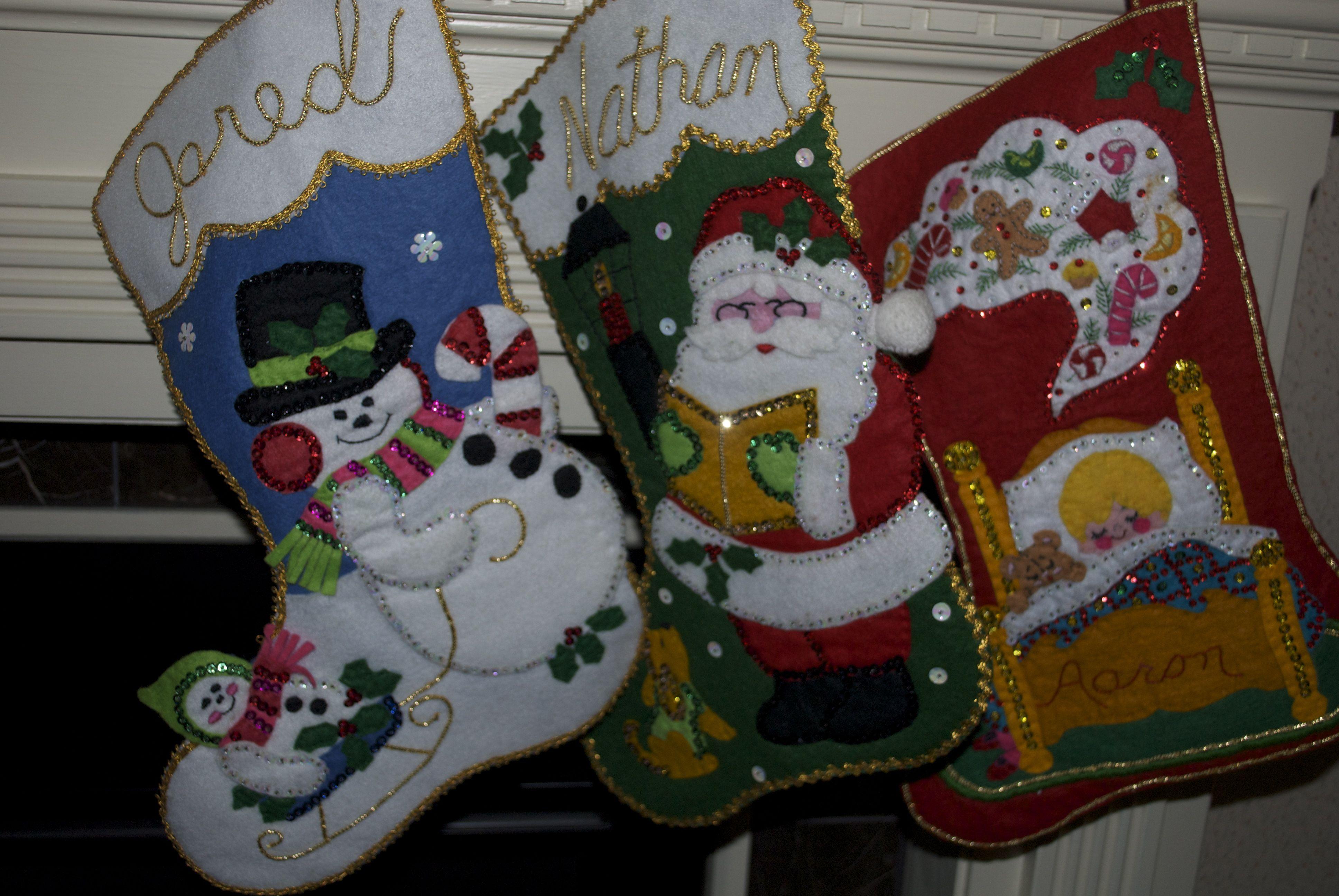 Homemade Christmas Stockings Christmas Pinterest
