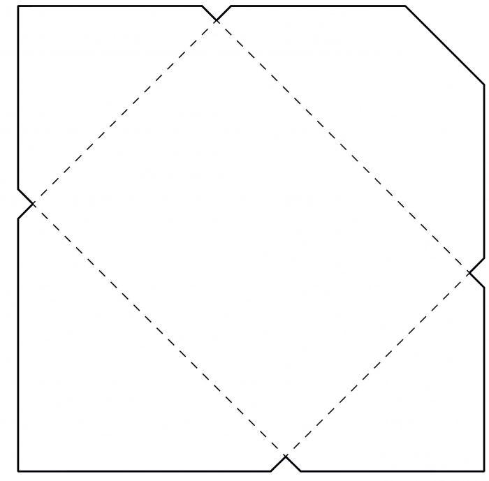 Выкройка бумажного конверта своими руками 38