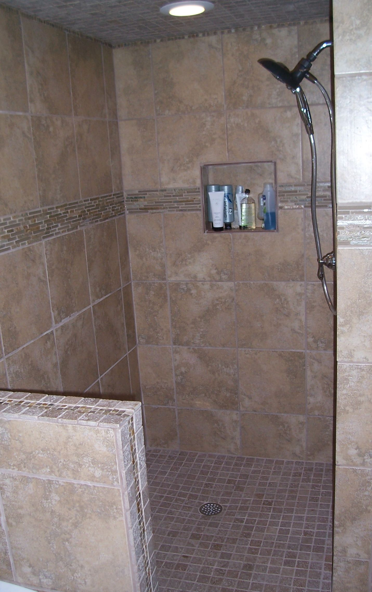 Open Shower Bathroom Design Magnificent Decorating Inspiration