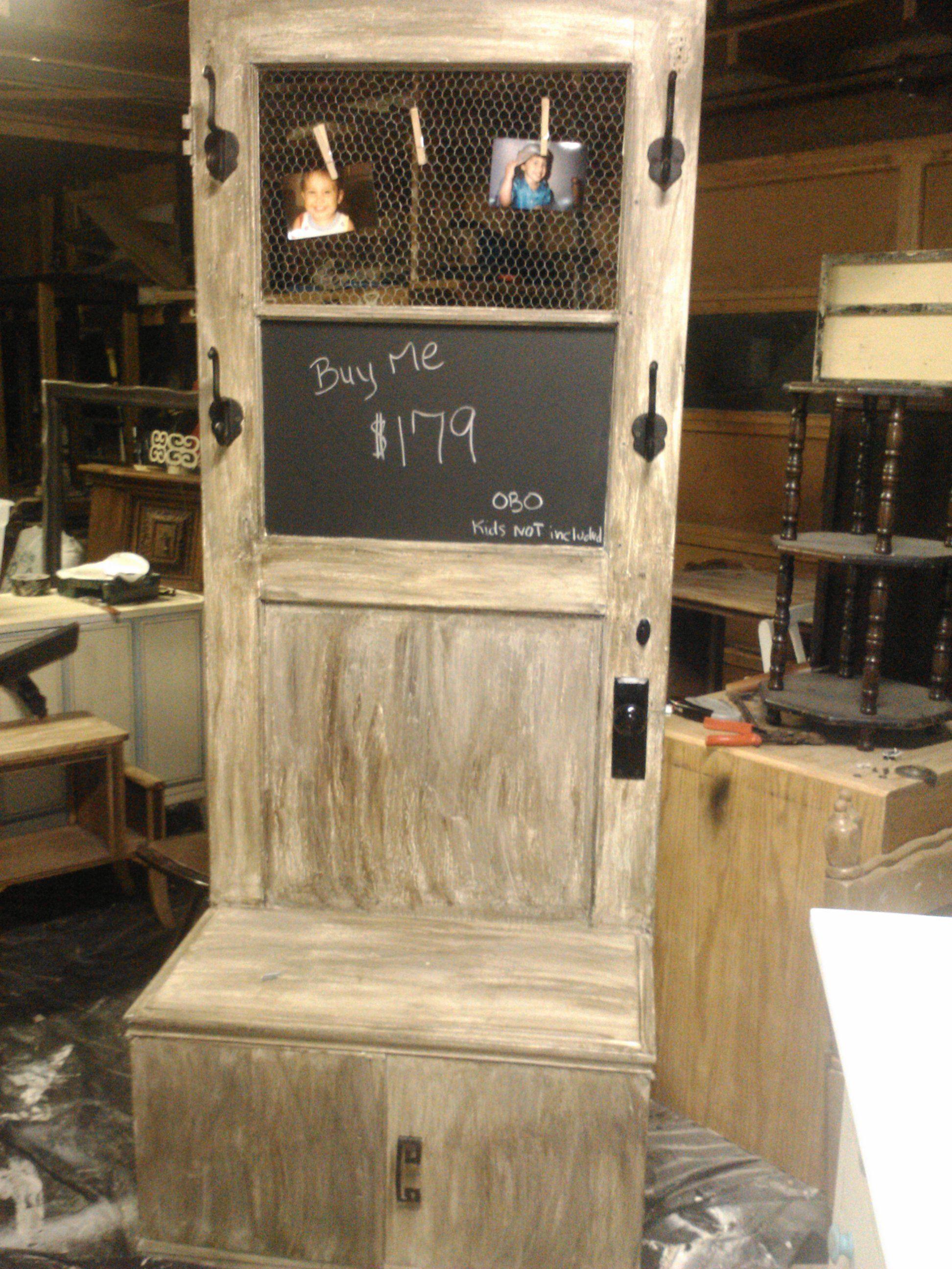 Repurpose old door cabinet repurpose heaven pinterest for Old door ideas