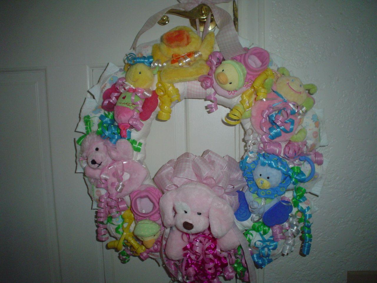 baby shower wreath craft ideas pinterest