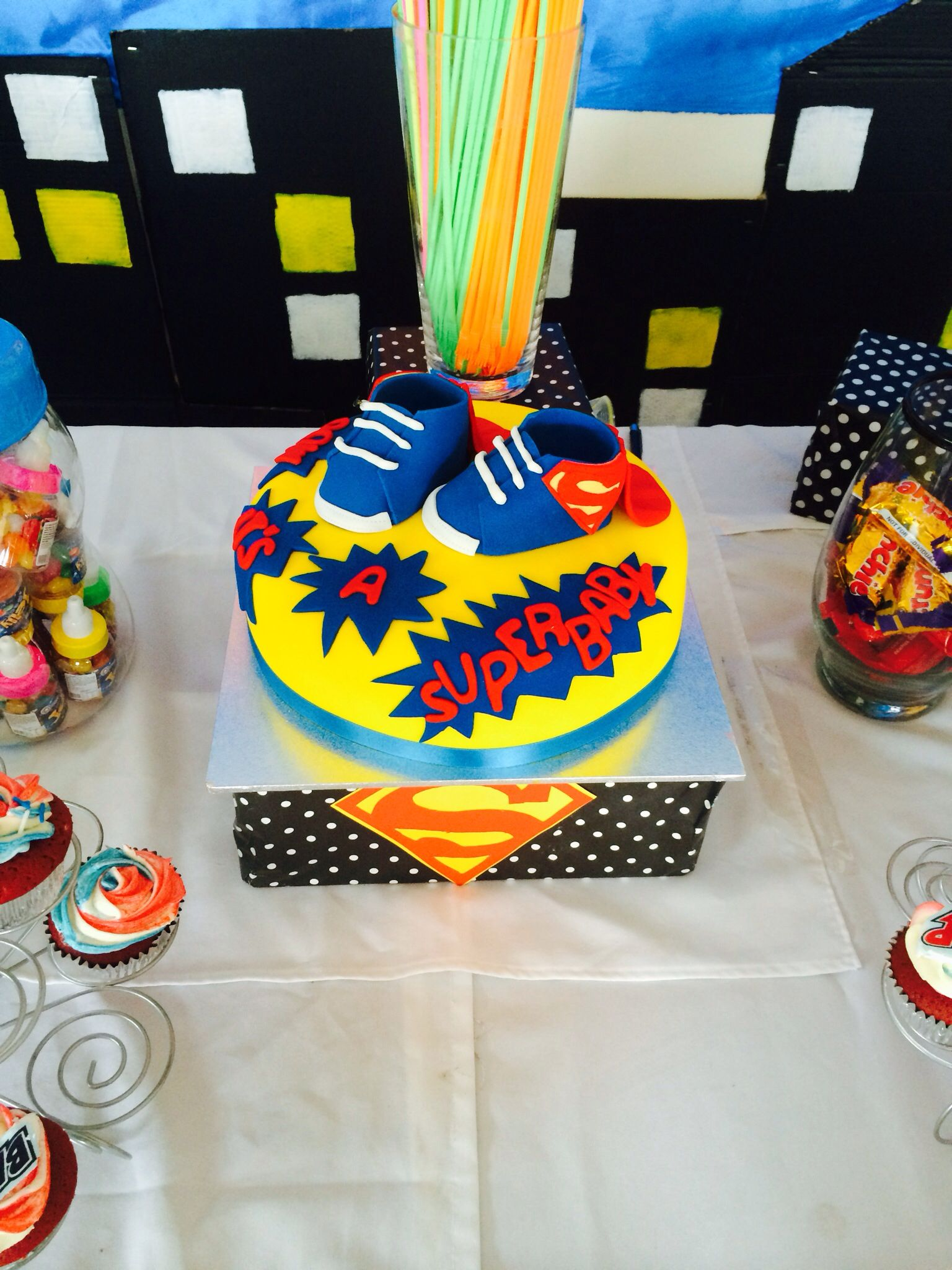 superman baby shower theme cake baby pinterest
