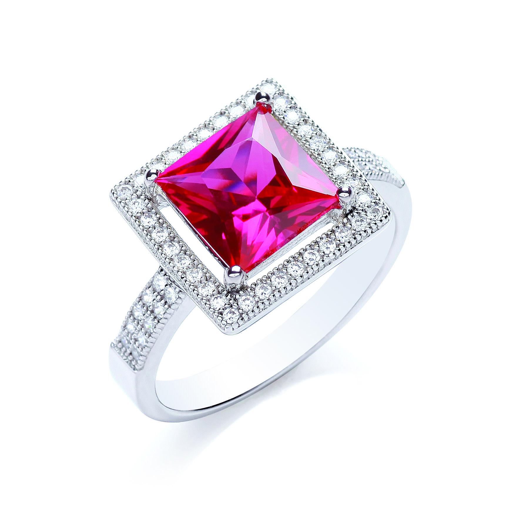 ruby ring princess cut ruby ring