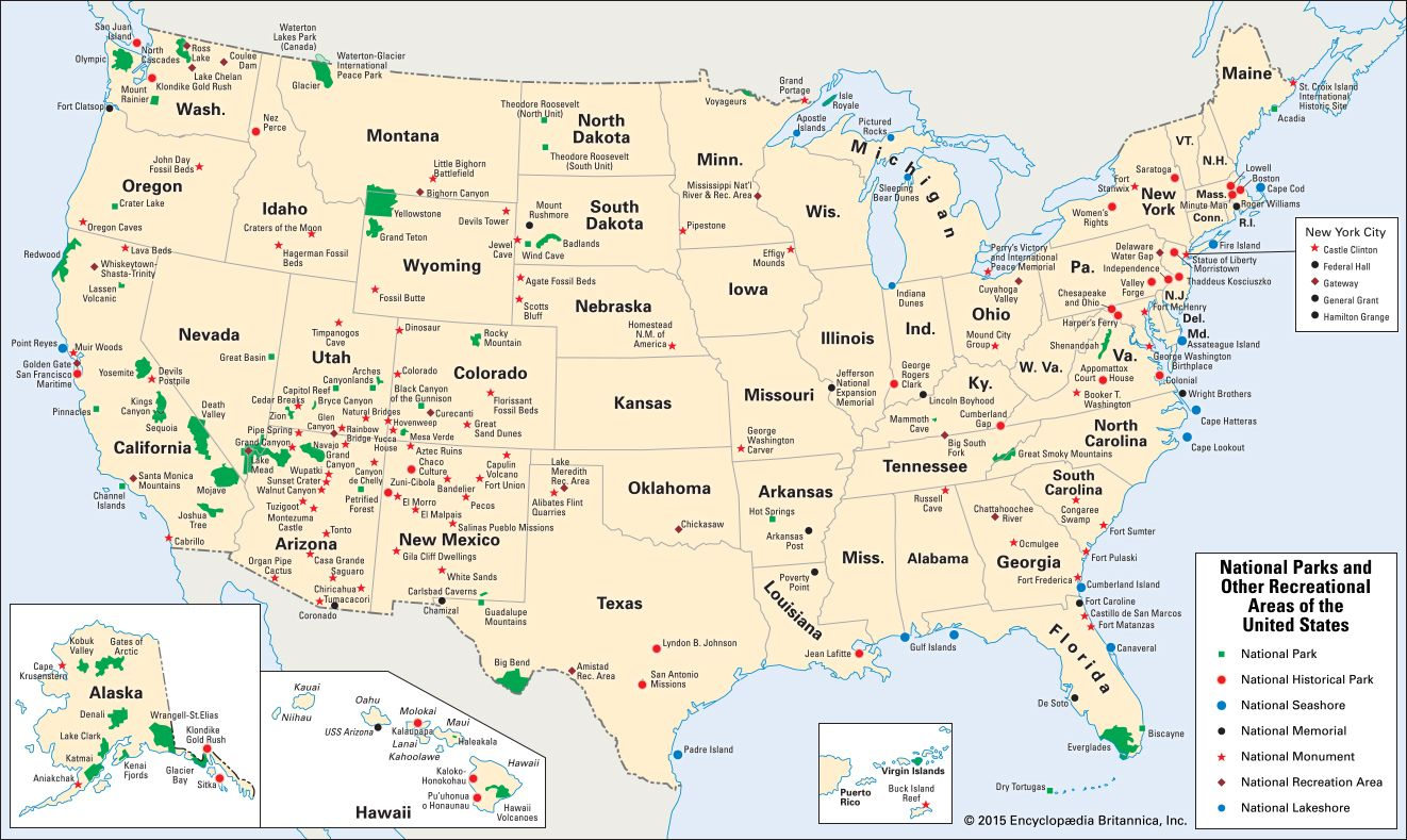 Map Stillnational Parks Of The United States Map Happy