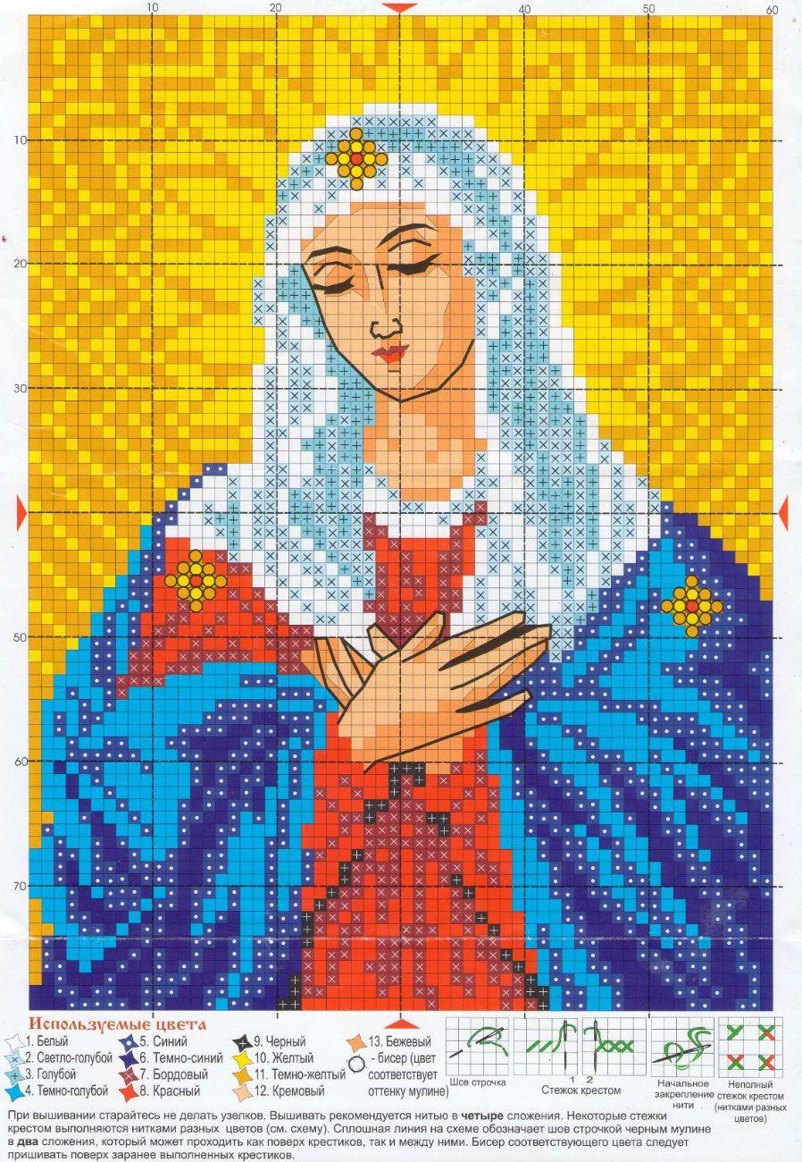 Схемы вышивки крестом иконы
