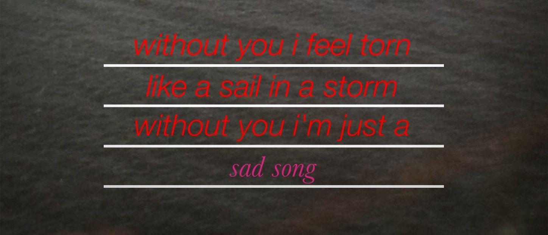 We the Kings - Sad Song | Song Lyrics | Pinterest Sad Song We The Kings