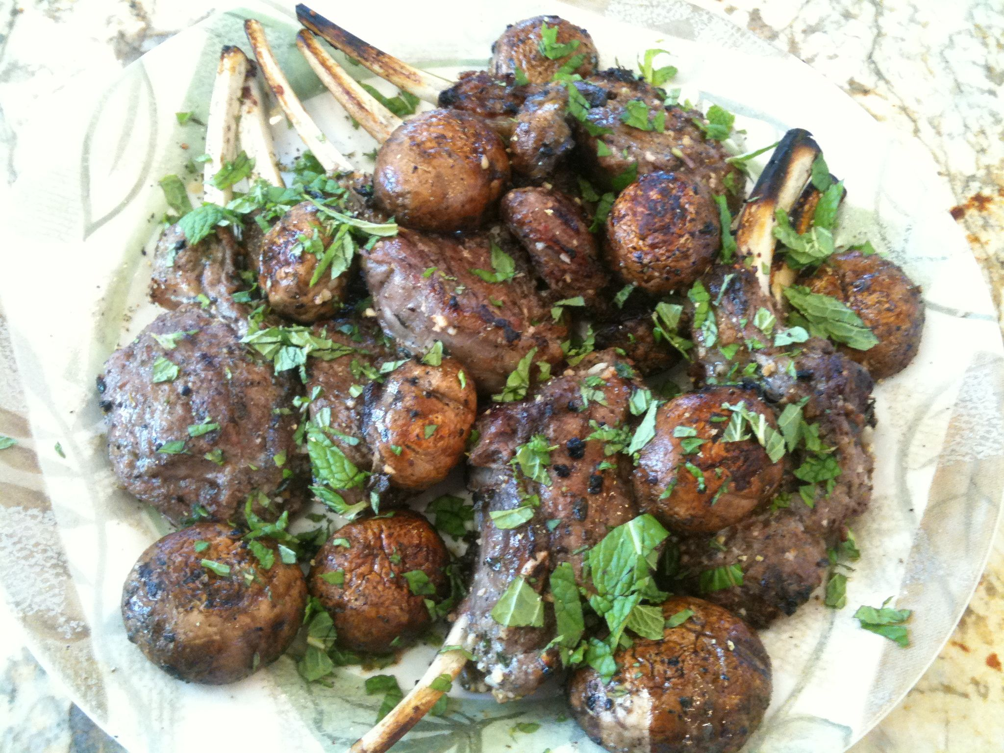 Grilled Porcini Mushrooms With Mint And Garlic Recipes — Dishmaps