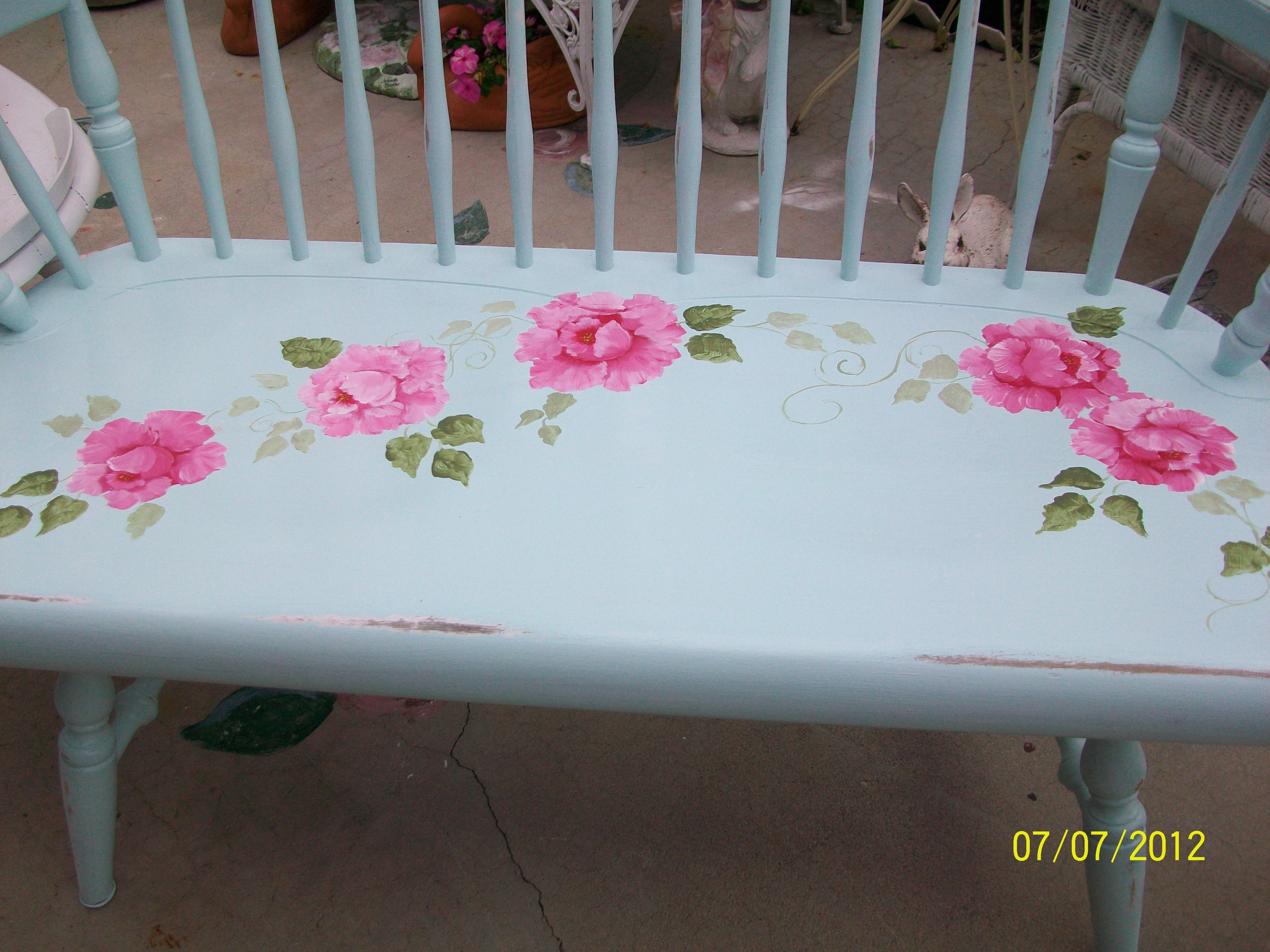 painted bench outdoor ideas pinterest