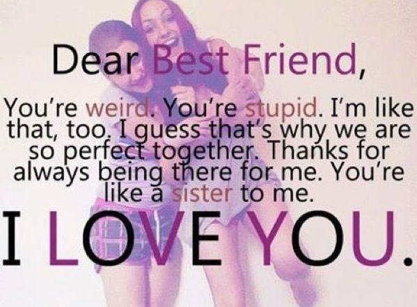 Dear best friend, Quotes Pinterest