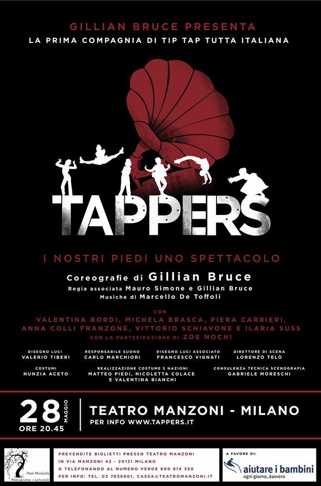 Tappers al teatro Manzoni di Milano. Regia Mauro Simone