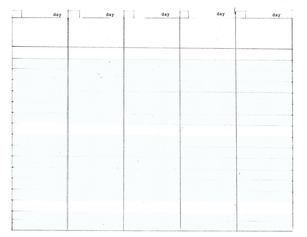 5 Day Weekly Planner Printable Printable Editable Blank – 5 Day Schedule Template