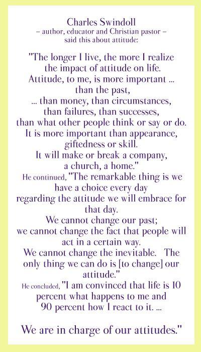 8 98 10% 90% attitude swindoll