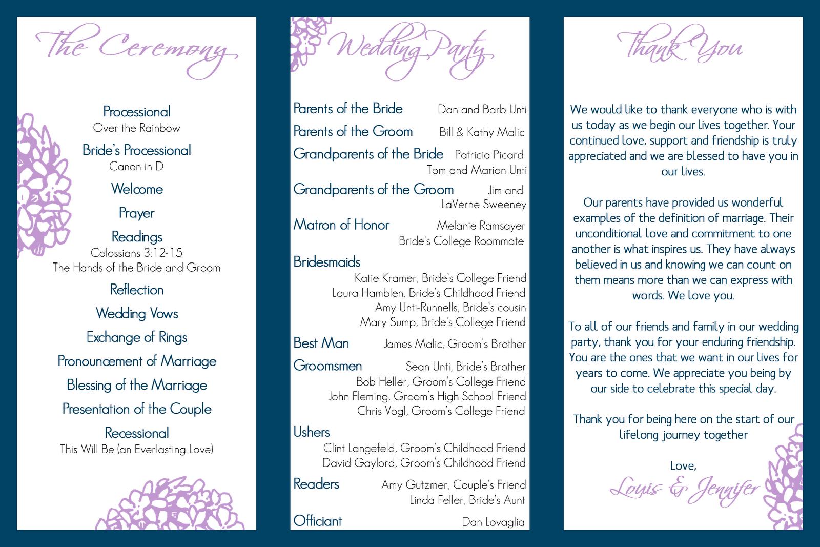 Free Tri Fold Program Template - Wedding program template publisher