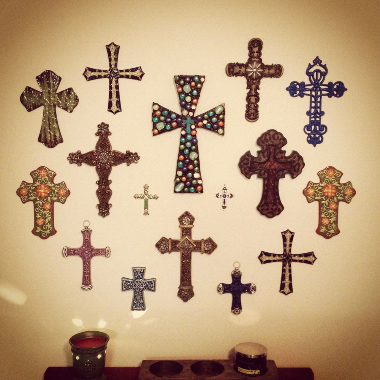 Cross wall dining room home decor pinterest Home decor wall crosses