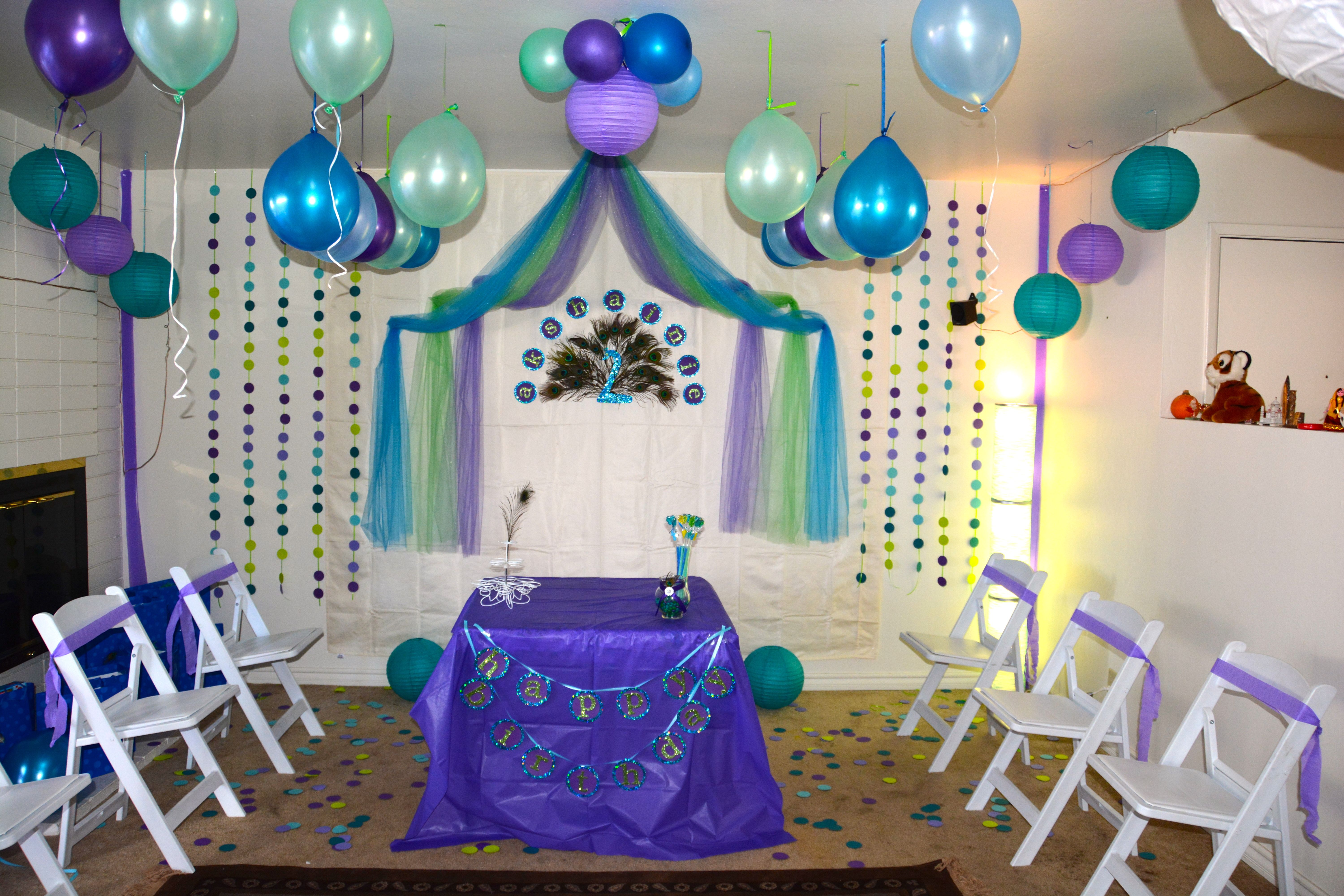 Peacock birthday theme party ideas pinterest - S party theme decorations ...