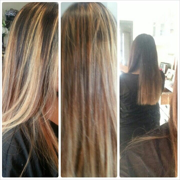 Ombre and highlights blonde hair | Hair by Sandreezzy | Pinterest