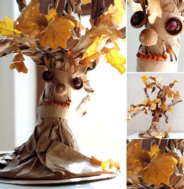 Поделка дерево осень руками пошагово 12