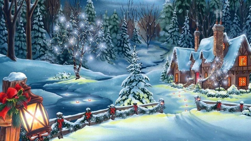 Beautiful scene christmas scenes pinterest for Outside christmas scenes
