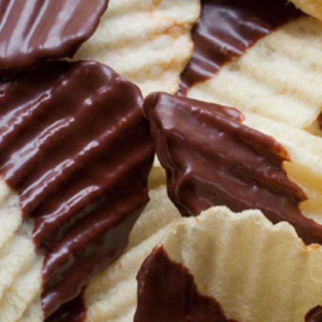 Chocolate covered potato chips... | delicious foodies. | Pinterest