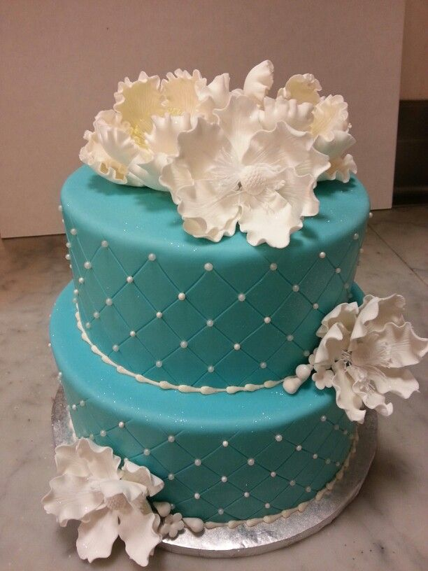 Tiffany Blue Cake Design : Tiffany blue cake Party Ideas Pinterest