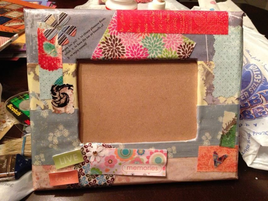 Homemade picture frame craft ideas pinterest for Handmade picture frame ideas