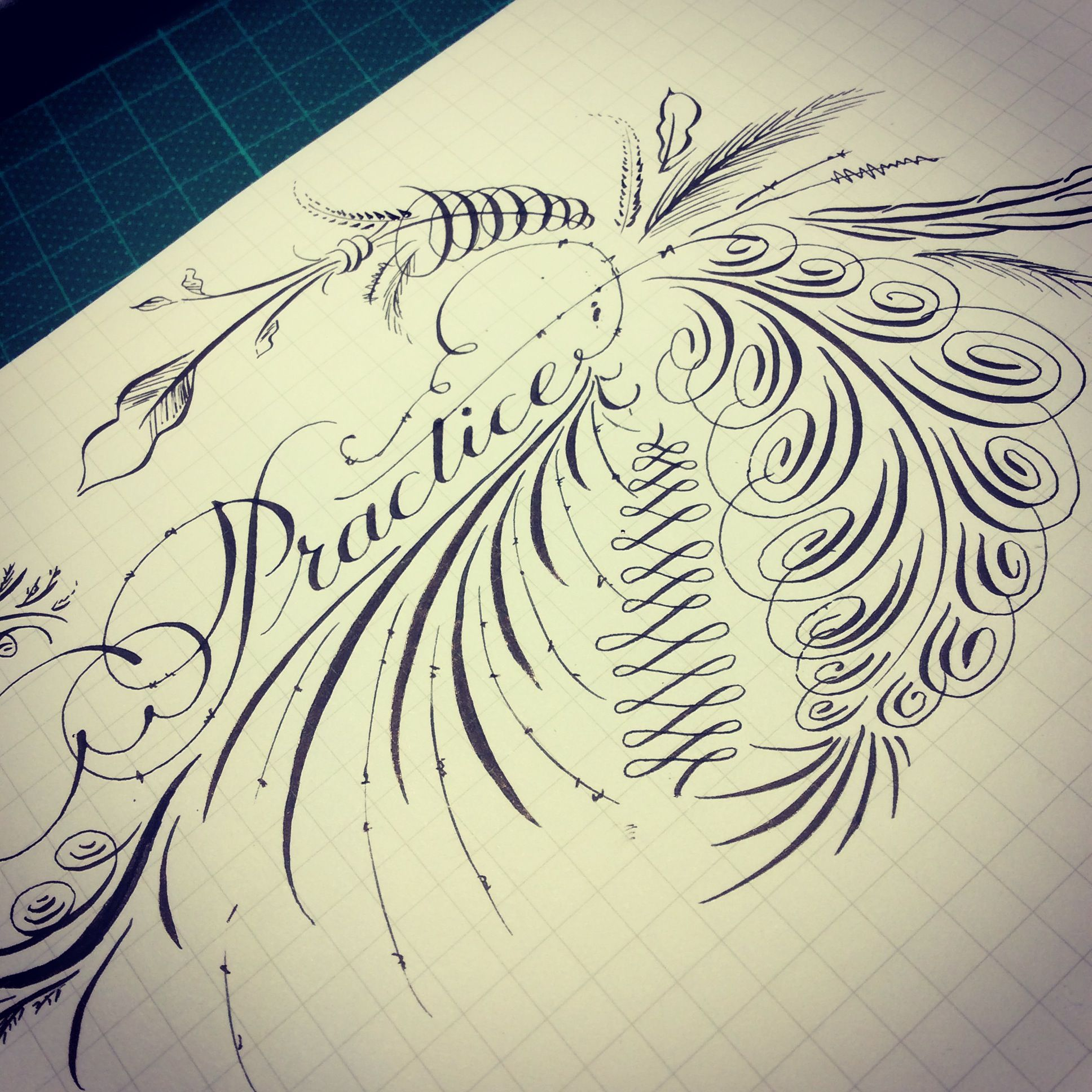 Calligraphy Flourishing Calligraphy Pinterest