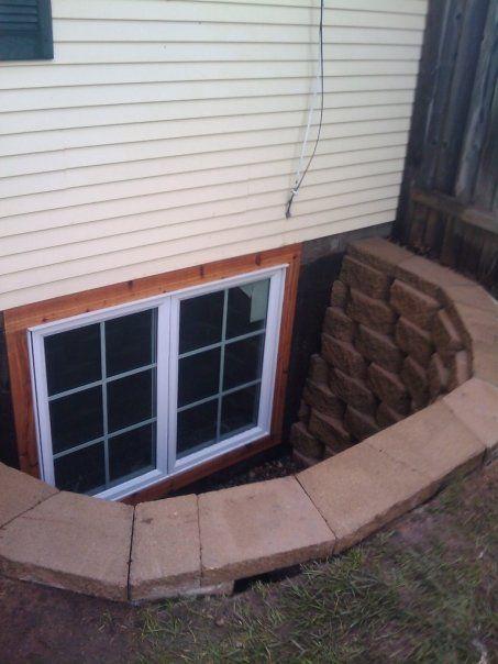 block well double casement egress window pinterest
