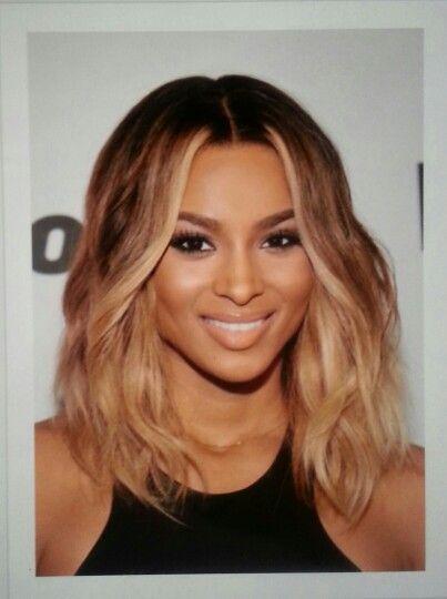 Ciara short light brown hair | Haar stijlen | Pinterest