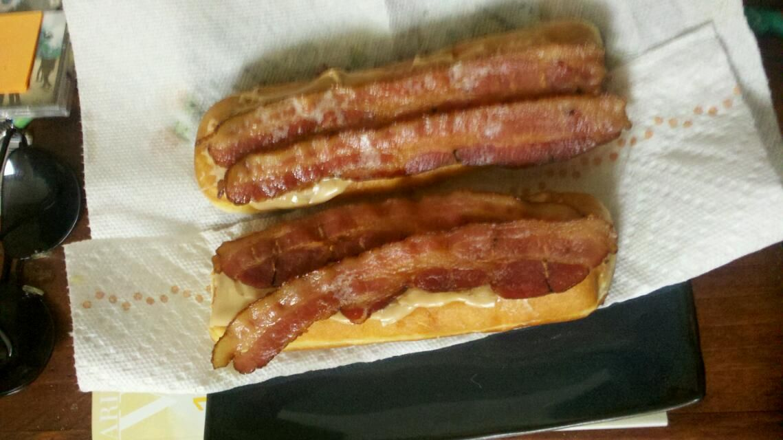 Maple long johns with bacon. | Food | Pinterest