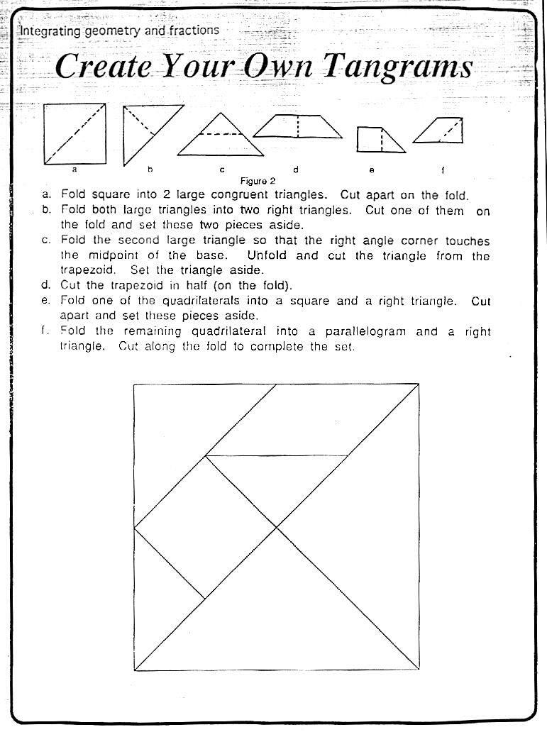 Tangram Worksheet - Synhoff