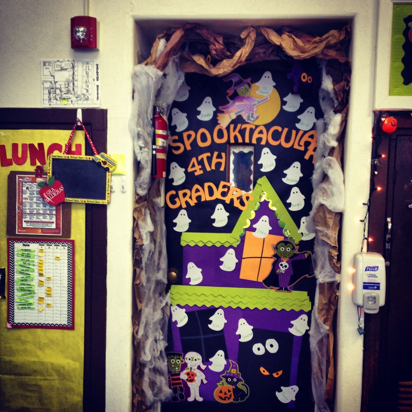 Halloween Classroom Door Decorations Ideas : Halloween classroom door decor pinterest