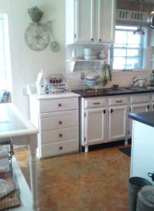Update cabinets with legs  Kitchen  Pinterest
