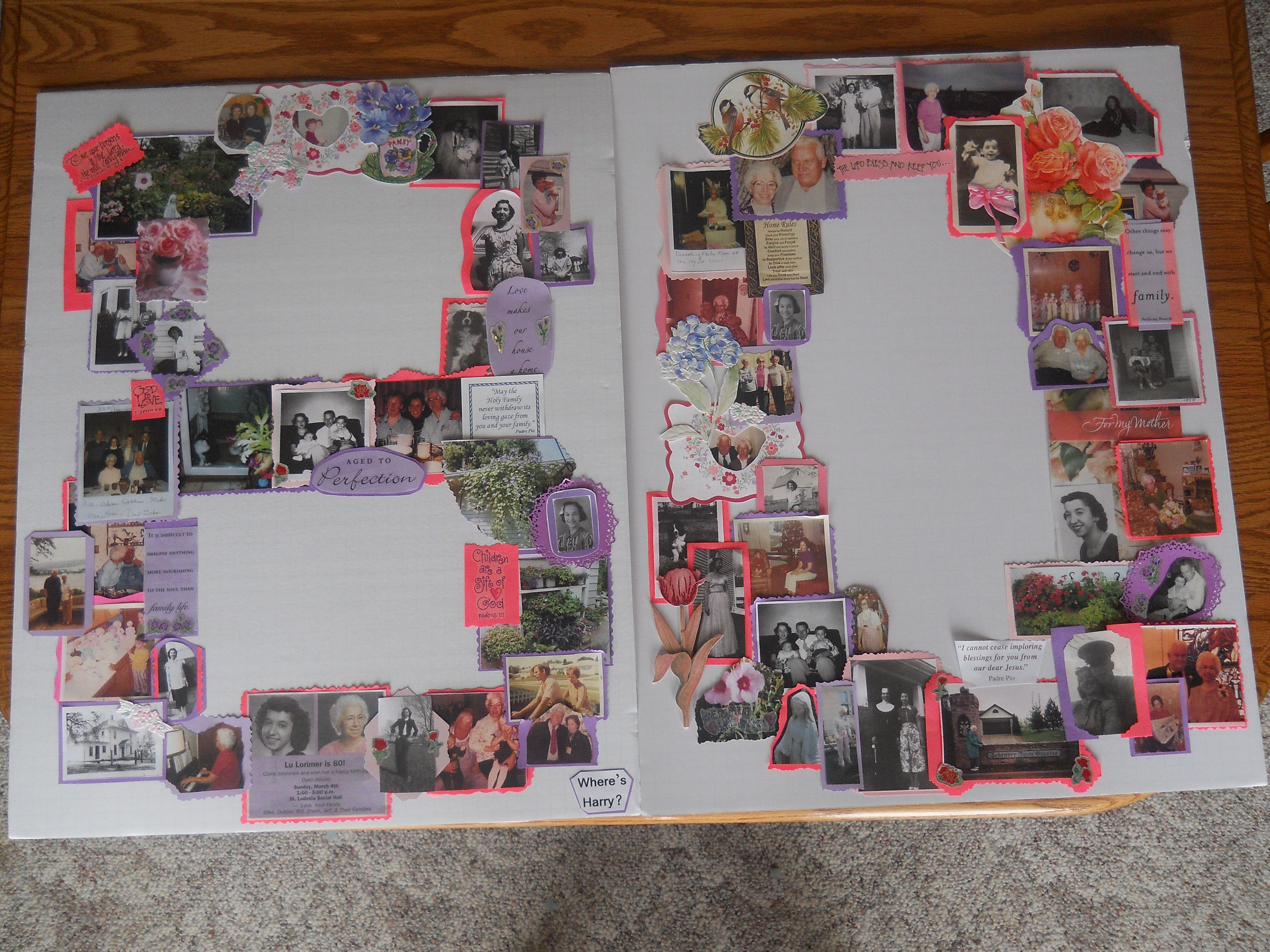 Pinterest collage 80th birthday ideas just b cause for 80th decoration