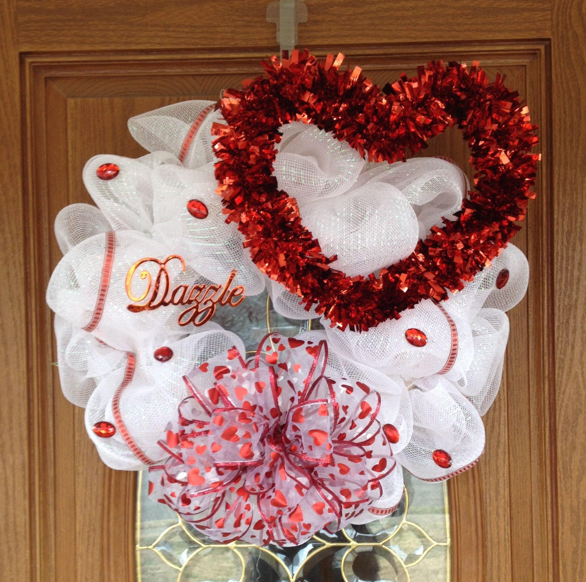 valentine's day wreaths pinterest
