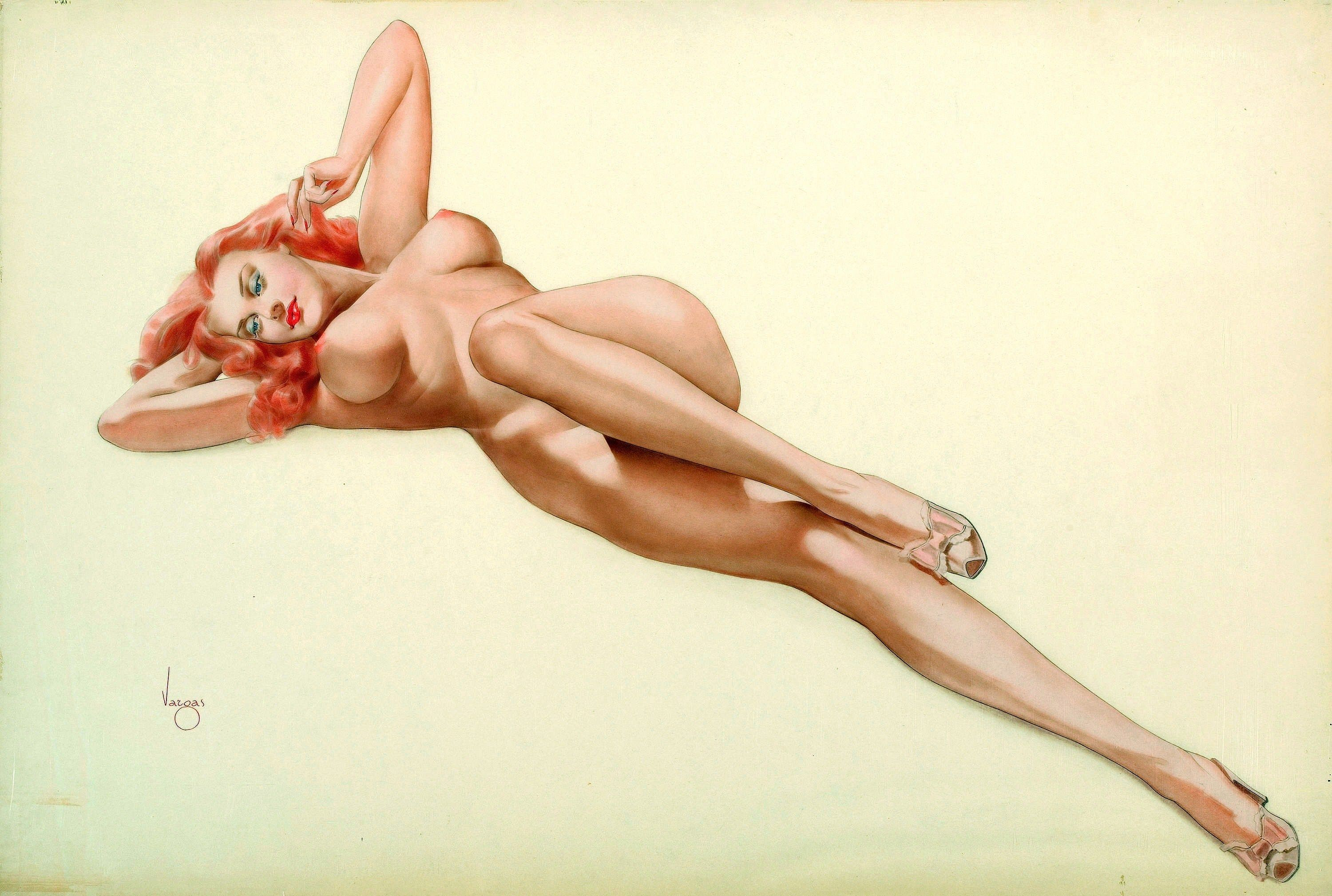 pin up girl naked tattoo