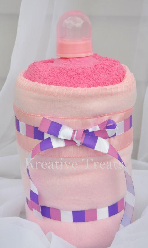 Baby Shaped Cake Images : Baby Bottle shaped diaper cake Diaper Cakes Pinterest