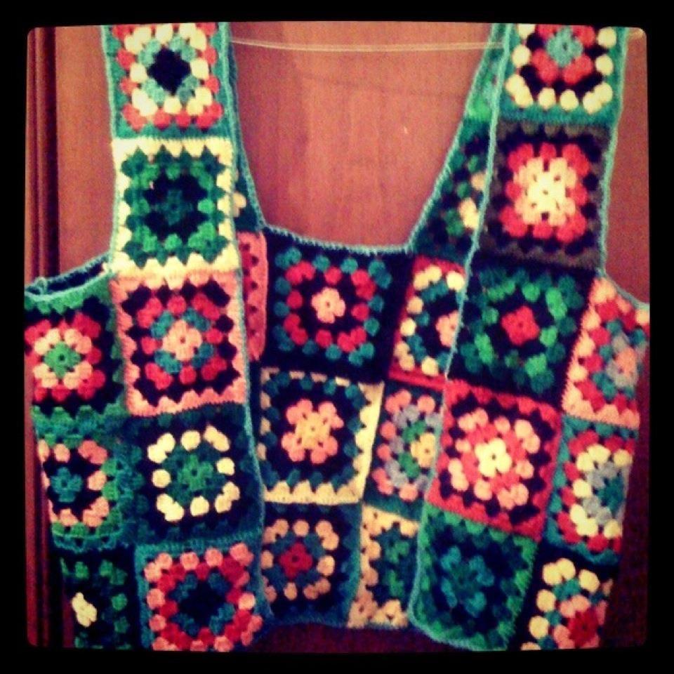 Free Crochet Granny Square Vest Patterns : the granny square vest! crochet Pinterest