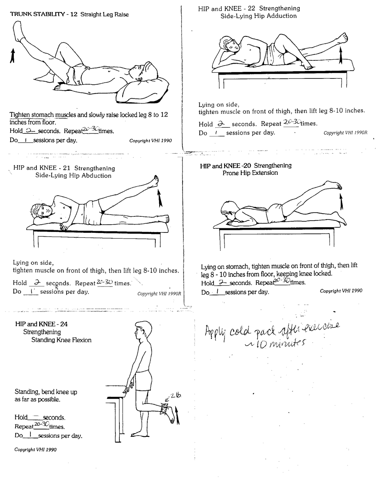 Exercise for physical therapy - Knee Exercises Illustrated Therapeutic Strengthening